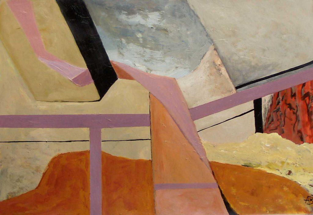 Abstrakte Landschaft III-