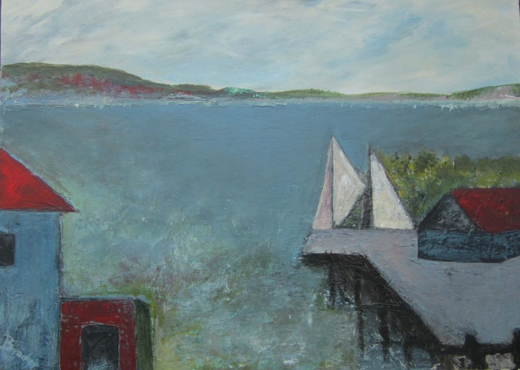 Am Ufer des Sees neu-